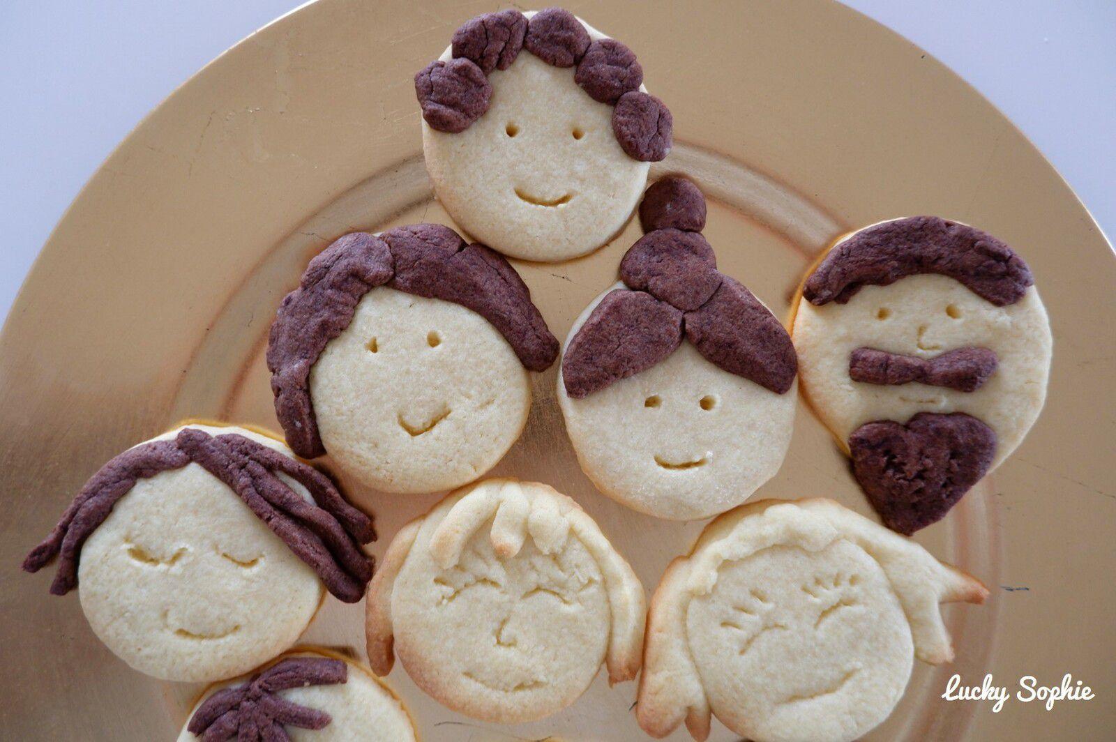 Portrait de famille en biscuits sablés