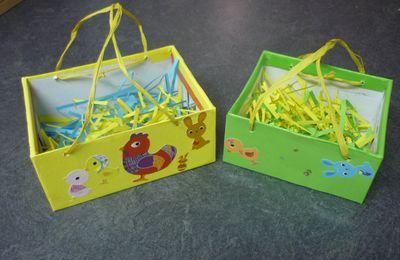 Nos petits paniers de Pâques