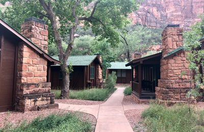 Zion National Park. Lodges de trappeurs