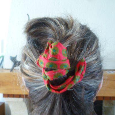 accessoire pour cheveux chutes de tissu