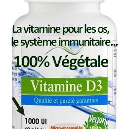 Vitamine D3 100% Végétale 1000 UI