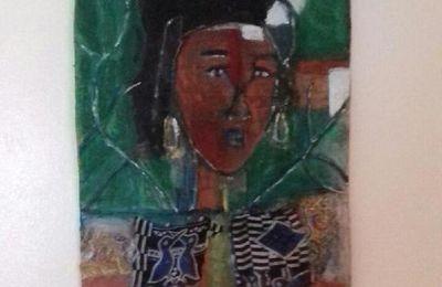 """""""Fleur d'or"""", mon tableau en hommage à mon amie Jessi Manigat"""