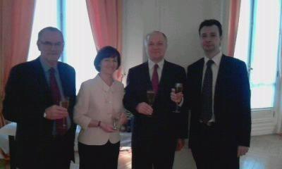Diverses réceptions d'Ambassades à Paris ( République de Maurice, Canada..), auxquelles le président national de l'UGF et certains autres membres sont conviés.Des moments chaleureux avec des gens de grandes qualités!