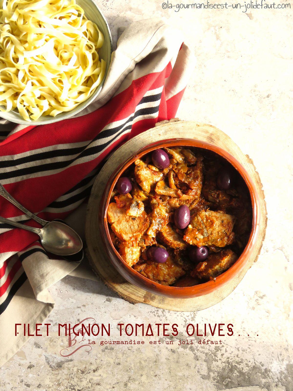 Filet mignon champignon sauce tomate