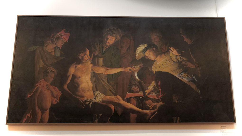 Matthias Stom, Morte di Seneca, 1640-45, Olio su tela