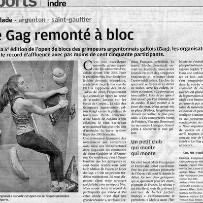 5e Open de bloc du G.A.G. la presse en parle