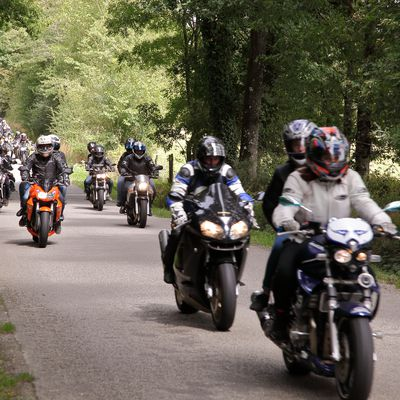 Motards Encadrants balade du 15 août