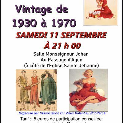 Défilé Vintage : samedi 11 septembre à 21h