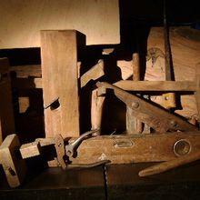 Un cadeau d'outils anciens