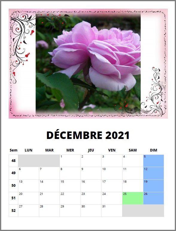 calendrier mimipalitaf 2021