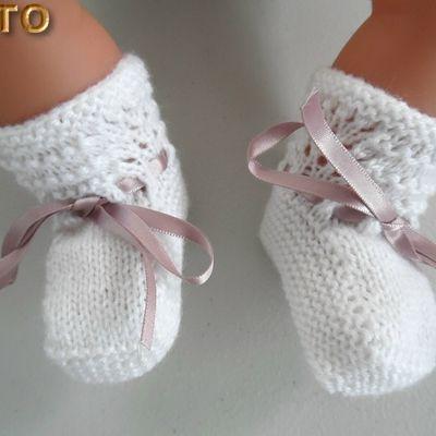 Tutoriels layettes tricot laine bébé fait main