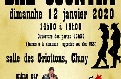 Bal Country Dreams le 12 janvier 2020 à Cluny