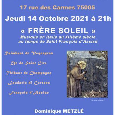 Concert médiéval en l'église Saint-Ephrem Paris 5e