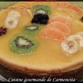 Cheesecake aux fruits exotiques - Cuisine gourmande de Carmencita