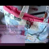 TUTO COUTURE - Mon sac en toile cirée !