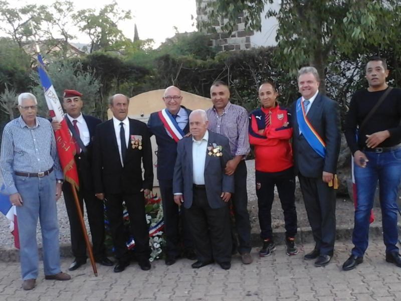 hommage aux harkis de Gonfaron (83) et à l'ancien Combattant Mohamed Bouche-bouk