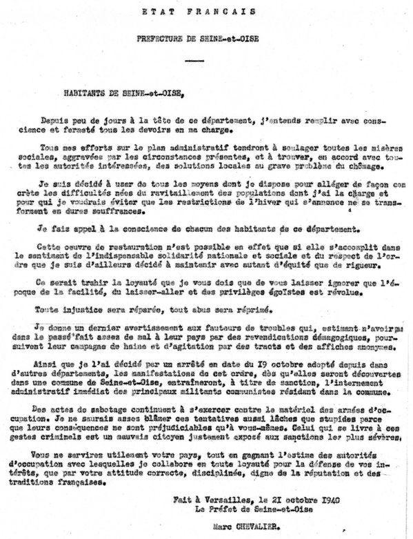 Aincourt, 5 octobre 1940