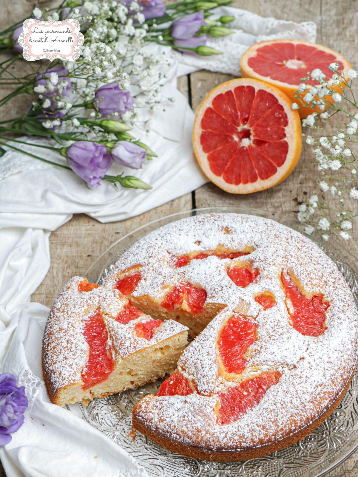 Gâteau moelleux au pamplemousse @ Les Gourmands {disent} d'Armelle