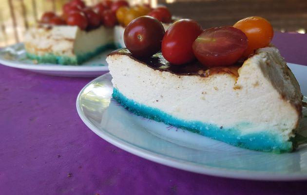 Cheesecake au chèvre frais et tomates cerises