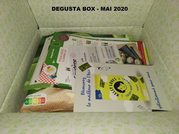 "unboxing des ""box surprise"" mensuelles de Degusta Box (avril et mai 2020) @ Tests et Bons Plans"