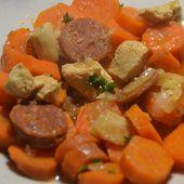 Carottes poulet chorizo cookeo -