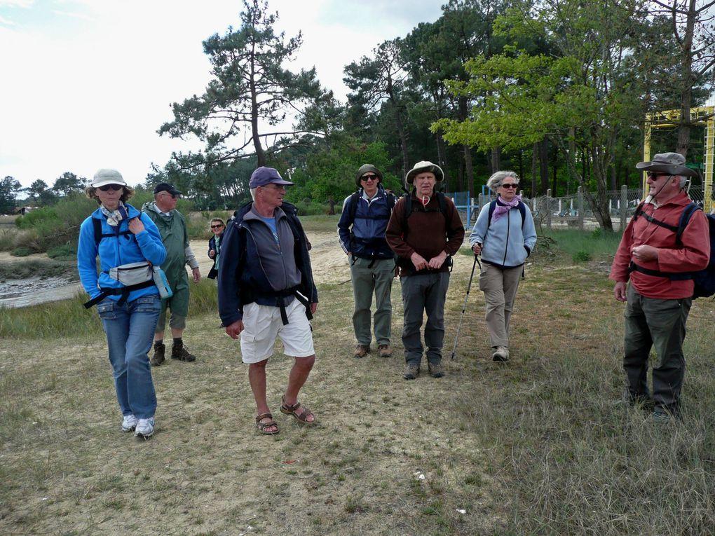 Randonnée du Cap Ferret à la dune du Pyla en 4 jours avec Claude, Georges, Patrick & Françoise, Hubert & Séverine, Francis & Martine, Thierry & Françoise