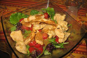 Salade de poulet à l'orange : dernière recette avant les vacances !