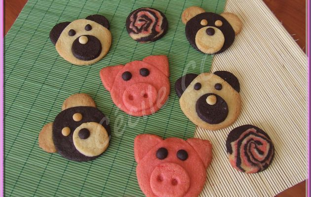 Petits biscuits cochons et oursons....