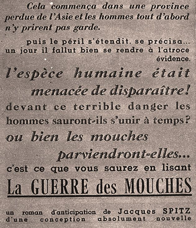 Accroche publicitaire dans le journal « Regards » du 9 sept. 1937