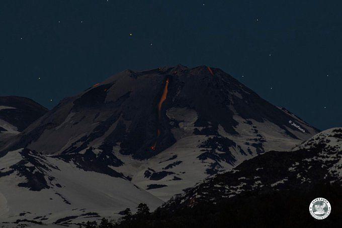 Nevados de Chillan coulée de lave sur le flanc N-NE - photo José Fauna  / Volcanologia Chile 22.09.2020