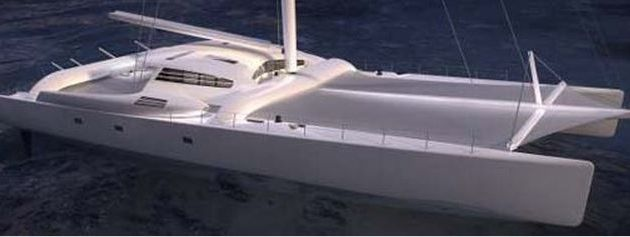 Yachting - chez Multiplast (56), le catamaran Orange II de Bruno Peyron va entamer une nouvelle vie