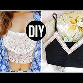 DIY Bralette Crop Tops | Easy DIY Tumblr Clothes