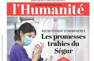 A la une de l'Humanité (14-06-21)