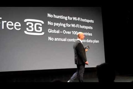 Amazon CEO Jeff Bezos demonstrates new Kindle Touch 3G