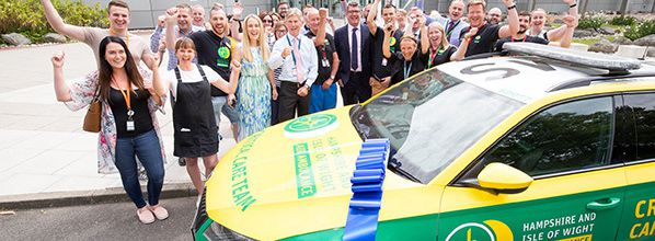 NATS employees raise £50k for Hampshire and Isle of Wight Air Ambulance