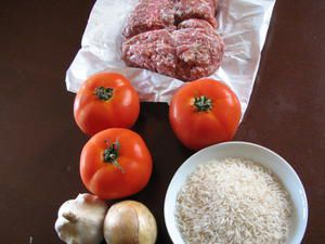 tomates farcies / stuffed tomatoes ingredients and recipe