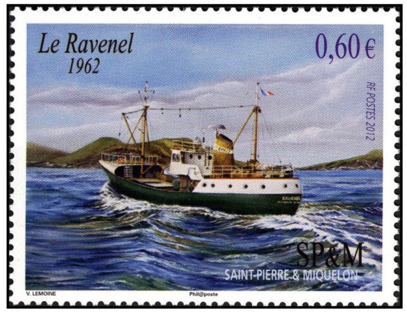 Timbre commémoratif Ravenel - image : La Poste