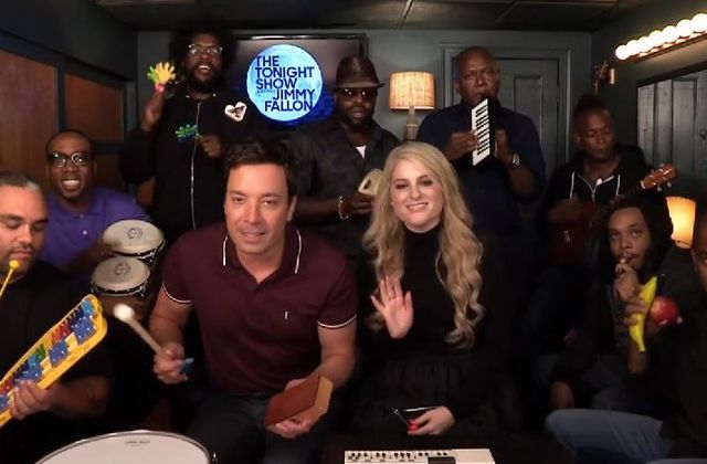 Vidéo : Jimmy Fallon & The Roots reprennent All about that bass.