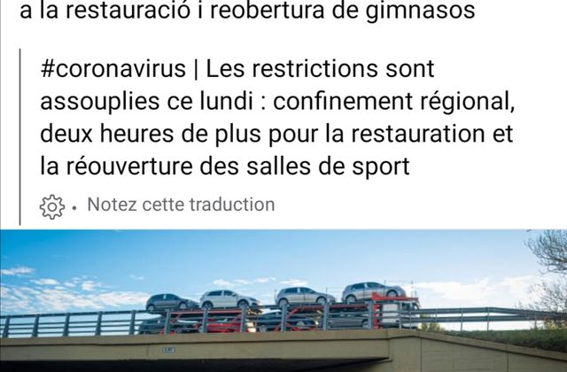 Restrictions assouplies ce lundi