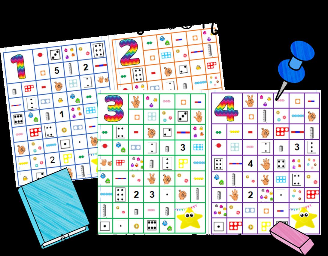 Maths : Chemin des nombres 1 à 10