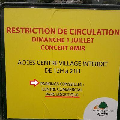 Lauwin-Planque : Concert AMIR le 1er Juillet - Où se trouve le parking conseillé ?