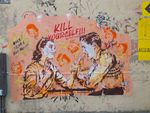 """Street-art without border"" à Paris: Sr.X, Kill yourself and your best friend"