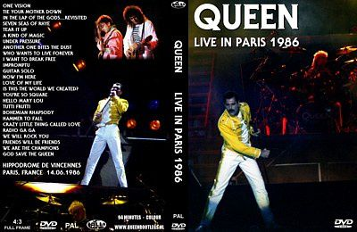 BOOTLEG DVD - QUEEN LIVE IN PARIS 1986