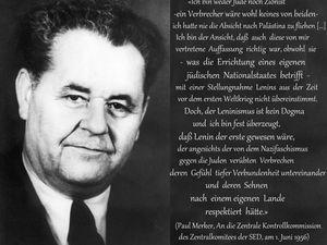 """""""Ich bin weder Jude noch Zionist -ein Verbrechen wäre wohl keines von beiden"""" (Paul Merker, 1. Juni 1956)"""
