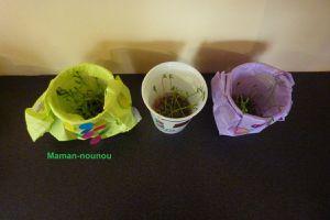 Pots de lentilles décorés