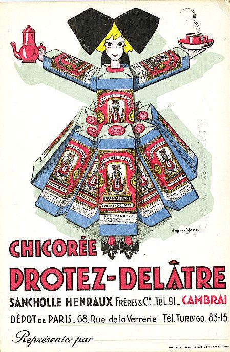 LES PUBLICITES ANCIENNES POUR LA CHICOREE...