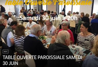 TABLE OUVERTE PAROISSIALE SAMEDI 30 JUIN