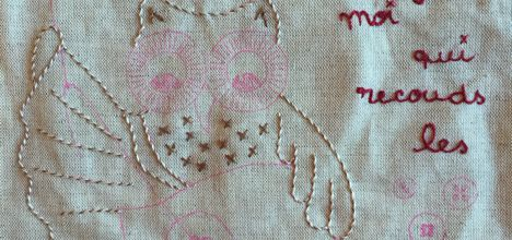 Chouette broderie traditionnelle #3