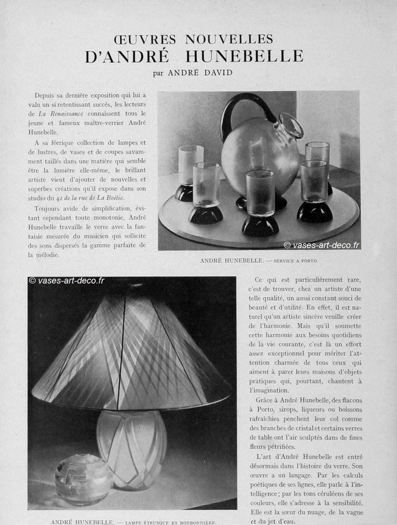 Article paru dans La Renaissance de l'Art Français - juin 1929