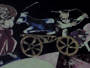 The Marc Chagall's tribute to his chaldhood in Vitebsk.